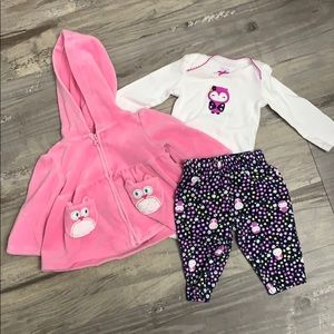 Carter's baby girl owl outfit set newborn NB